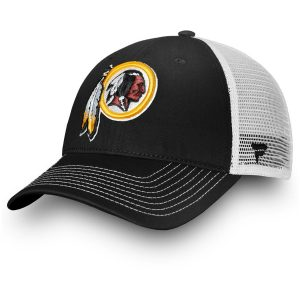 Washington Redskins Black/White Core Trucker III Adjustable Snapback Hat