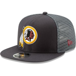 New Era Washington Redskins Graphite Mesh Fresh 9FIFTY Adjustable Snapback Hat