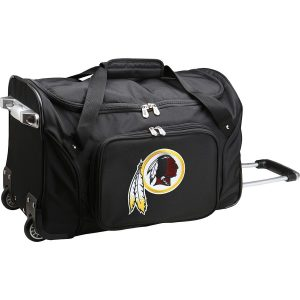Washington Redskins Black 22″ 2-Wheeled Duffel Bag