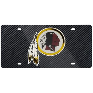 Washington Redskins Carbon Fiber License Plate