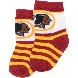 Washington Redskins For Bare Feet Toddler Rugby Stripe Socks